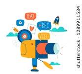 video camera production ... | Shutterstock .eps vector #1289911534