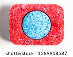 red and blue dishwasher pod... | Shutterstock . vector #1289918587