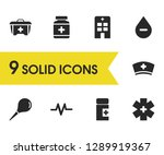 medicine icons set with rhythm  ... | Shutterstock .eps vector #1289919367
