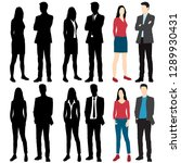 set of silhouettes men and... | Shutterstock .eps vector #1289930431