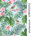 tropical vector seamless... | Shutterstock .eps vector #1289935291