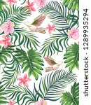 tropical vector seamless... | Shutterstock .eps vector #1289935294