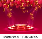stage podium with lighting and... | Shutterstock .eps vector #1289939527