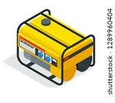 isometric yellow gasoline... | Shutterstock . vector #1289960404