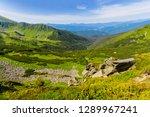 green mountain valley summer... | Shutterstock . vector #1289967241