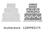 mesh vector cake with flat... | Shutterstock .eps vector #1289983174