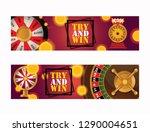 fortune wheel vector try to win ... | Shutterstock .eps vector #1290004651