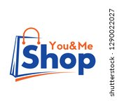 shopping cart logo and shopping ... | Shutterstock .eps vector #1290022027