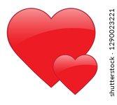 heart red. heart icon vector   Shutterstock .eps vector #1290023221