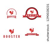 rooster company logo vector... | Shutterstock .eps vector #1290028231