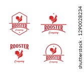 rooster company logo vector... | Shutterstock .eps vector #1290028234