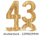 numeral 43  forty three ... | Shutterstock . vector #1290029944