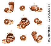 donut set. donuts collection... | Shutterstock .eps vector #1290033184