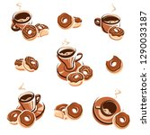 donut set. donuts collection...   Shutterstock .eps vector #1290033187
