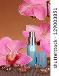 women's perfume in beautiful... | Shutterstock . vector #129003851