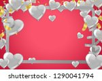 valentines background with... | Shutterstock .eps vector #1290041794