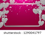 valentines background with... | Shutterstock .eps vector #1290041797