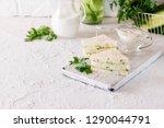 summer snack three layer... | Shutterstock . vector #1290044791