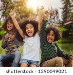 happy african american boy and... | Shutterstock . vector #1290049021
