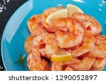 shrimp cocktail background with ... | Shutterstock . vector #1290052897