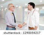 doctor in hospital handshake... | Shutterstock . vector #1290054217