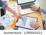 startup teamwork brainstorming... | Shutterstock . vector #1290061621