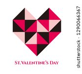 valentine's day background... | Shutterstock . vector #1290066367