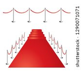 red carpet vector background | Shutterstock .eps vector #1290071071
