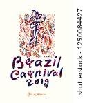 brazil carnival 2019. beautiful ... | Shutterstock .eps vector #1290084427