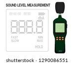 isolated sound level meter on... | Shutterstock .eps vector #1290086551