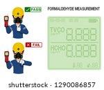 worker is presenting result... | Shutterstock .eps vector #1290086857