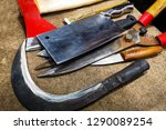 work tools  knives and... | Shutterstock . vector #1290089254