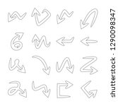 arrows doodle thin line   Shutterstock .eps vector #1290098347