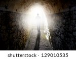 man walking to the light | Shutterstock . vector #129010535
