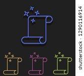 scroll icon in multi color....