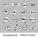 set of black and white speech... | Shutterstock .eps vector #1290117244
