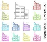 building icon in multi color....