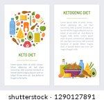set flyers for keto diet.... | Shutterstock .eps vector #1290127891