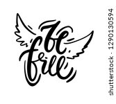 be free vector lettering quotes ...   Shutterstock .eps vector #1290130594