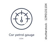 linear car petrol gauge icon... | Shutterstock .eps vector #1290131104