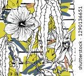 tropical  stripe  animal motif. ...   Shutterstock .eps vector #1290136651