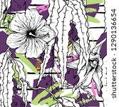 tropical  stripe  animal motif. ...   Shutterstock .eps vector #1290136654