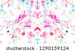 colorful symmetrical abstract... | Shutterstock . vector #1290159124