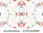 colorful symmetrical abstract... | Shutterstock . vector #1290160084
