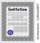 grey vintage invitation.... | Shutterstock .eps vector #1290163897