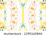 colorful symmetrical abstract... | Shutterstock . vector #1290165844
