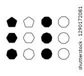 vector set icon pentagon ... | Shutterstock .eps vector #1290172081