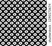 black and white seamless ethnic ... | Shutterstock .eps vector #1290173674