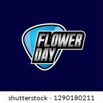 flower day  beautiful greeting... | Shutterstock .eps vector #1290180211