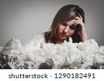 sick young woman with a runn... | Shutterstock . vector #1290182491